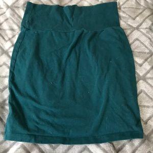 Hunter green mini skirt